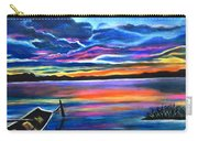 Left Alone A Seascape Boat Painting At Sunset  Carry-all Pouch