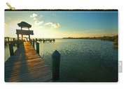 Left Dock Sunrise Carry-all Pouch