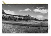 Legend Of The Bear Wyoming Devils Tower Panorama Bw Carry-all Pouch