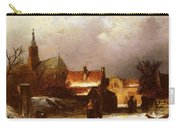 Leickert Charles Henri Joseph Figures On The Snow Carry-all Pouch