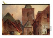Leickert Charles View In A German Village With Washerwomen Carry-all Pouch