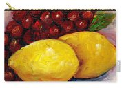 Lemon And Grapes Still Life Grace Venditti Montreal Art Carry-all Pouch