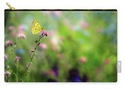 Lemon Butterfly In Summer Meadow  Carry-all Pouch