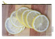 Lemon Slices On Cutting Board Carry-all Pouch