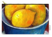 Lemons In A Blue Bowl Grace Venditti Montreal Art Carry-all Pouch