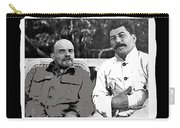 Lenin And Stalin Circa 1923 Color And Drawing Added 2016    Carry-all Pouch