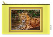 Leopard Beauty Catus 1 No. 1 L A With Decorative Ornate Printed Frame Carry-all Pouch