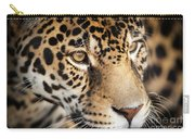 Leopard Face Carry-all Pouch by John Wadleigh