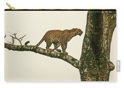 Leopard In A Sal Tree Carry-all Pouch