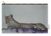 Leopard On Rock Carry-all Pouch