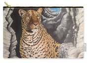 Leopard On The Rocks Carry-all Pouch