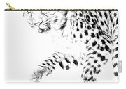 Leopard Spots Black And White Carry-all Pouch