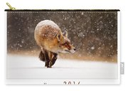Let It Snow 4 - New Years Card Red Fox In The Snow Carry-all Pouch