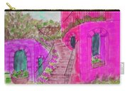 Let Them Eat Cake Multicolor Fuchsia Carry-all Pouch