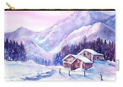Swiss Mountain Cabins In Snow Carry-all Pouch