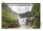 Letchworth Upper Falls Carry-all Pouch by Michael Chatt