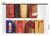 Leterpress Wood Blocks Spelling Give Back Carry-all Pouch