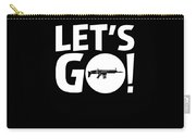 Lets Go Battle Royale Gaming Legendary Scar Rifle Birthday Gamer Gift T Shirt Carry-all Pouch