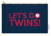 Let's Go Twins Carry-all Pouch