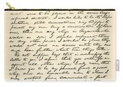 Letter From Abraham Lincoln To Alden Carry-all Pouch