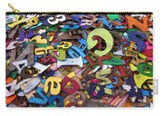 Letters And Numbers Carry-all Pouch