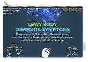 Lewy Body Dementia Symptoms Carry-all Pouch