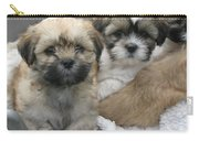Lhasa Apso Puppy Painting Carry-all Pouch