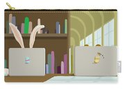 Library And Laptops Carry-all Pouch