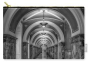 Library Of Congress Building Hallway Bw Carry-all Pouch