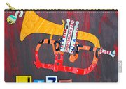 License Plate Art Jazz Series Number One Trumpet Carry-all Pouch