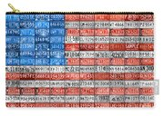 License Plate Flag Of The United States Carry-all Pouch by Design Turnpike