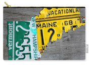 License Plate Map Of New England States Carry-all Pouch