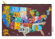 License Plate Map Of The United States Carry-all Pouch