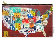 License Plate Map Of The United States - Midsize Carry-all Pouch