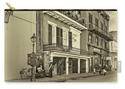 Life In The Quarter - Antique Sepia Carry-all Pouch