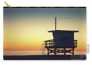 Lifeguard Tower At Sunset Carry-all Pouch