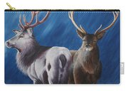 Light And Dark Stags Carry-all Pouch