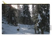 Light And Shadow On A Snowy Landscape Carry-all Pouch