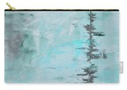 Light Blue Gray Abstract Carry-all Pouch