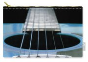 Light Blue Guitar 13 Carry-all Pouch