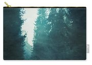 Light Coming Through Fir Trees In Mist Carry-all Pouch