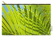Light Green Palm Leaves Carry-all Pouch