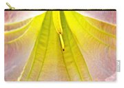 Light In Peach Angel's Trumpet At Pilgrim Place In Claremont-california  Carry-all Pouch