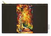 Light Of The Forest - Palette Knife Oil Painting On Canvas By Leonid Afremov Carry-all Pouch