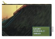 Light Power Speed - London Underground, London Metro - Retro Travel Poster - Vintage Poster Carry-all Pouch
