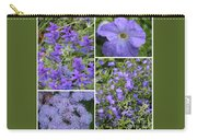 Light Purple Flowers Collage Carry-all Pouch
