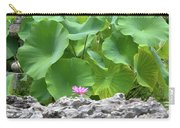 Light Purple Water Lily And Large Green Leaves Carry-all Pouch