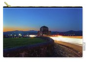 Light Trails Around Vista House On Crown Point Carry-all Pouch