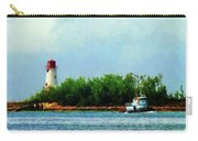 Lighthouse And Boat Nassau Bahamas Carry-all Pouch