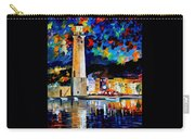 Lighthouse In Crete - Palette Knife Oil Painting On Canvas By Leonid Afremov Carry-all Pouch